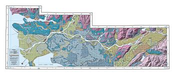 Geomap created by the Geological Survey of Canada of the Vancouver region.